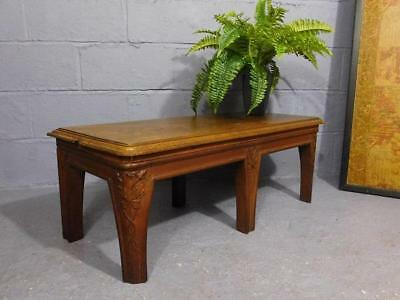 Antique Art Nouveau Designed Mahogany Window Seat Bench Or Low Coffee Table