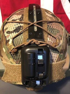Hel Star 5 LED GREEN / WHITE HELMET IFF V Light strobe LMD Firefly vip light.