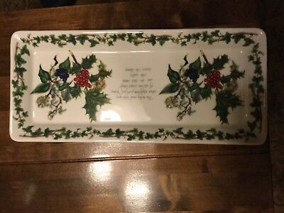 Portmeirion Holly and The Ivy Sandwich Tray - NEW UNUSED