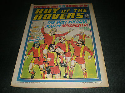 Roy Of The Rovers Comic Book 11Th Mar 1978 Football Gift Idea Birthday Christmas