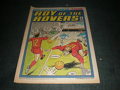 Roy Of The Rovers Comic Book 15Th Jan 1977 Football Gift Idea Birthday Christmas