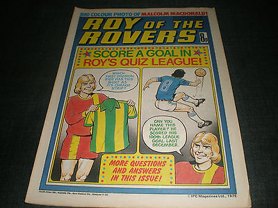 Roy Of The Rovers Comic Book 4Th Mar 1978  Football Gift Idea Birthday Christmas