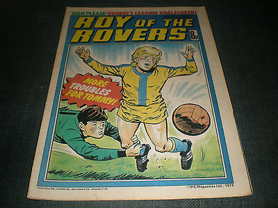 Roy Of The Rovers Comic Book 13Th May 1978 Football Gift Idea Birthday Christmas