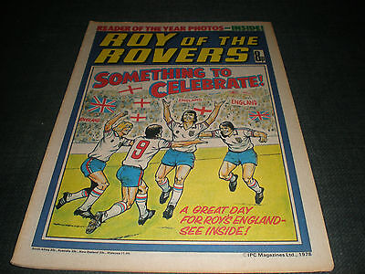 Roy Of The Rovers Comic Book 18Th Feb 1978 Football Gift Idea Birthday Christmas