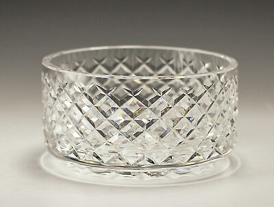 Cut Crystal Bowl - Waterford - diamond shaped cut facets