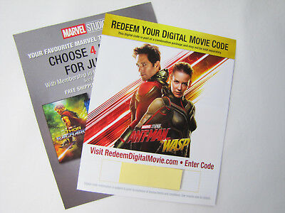 Marvel Ant-Man And The Wasp Digital Movie Code Only