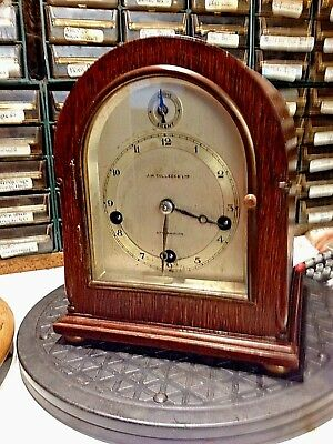 MINIATURE  Bracket clock Gustav Becker Westminster chimes