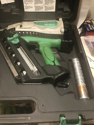 Hitachi NR90GC Cordless 1st Fix Framing NAIL GUN - Great Condition Just serviced