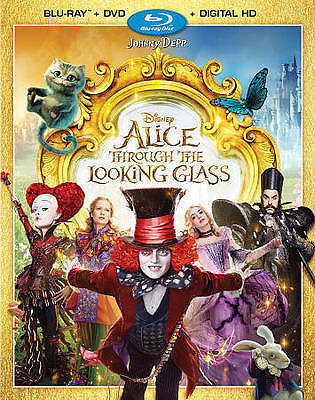 Alice Through the Looking Glass (Blu-ray/DVD, 2016, 2-Disc Set, Includes Digita…