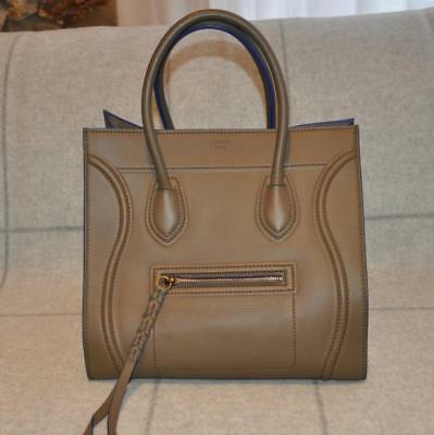 2bc932b0a1f7d NEW CELINE AUTHENTIC Small Cabas Gusset Vertical Gray Bag  1400 ...