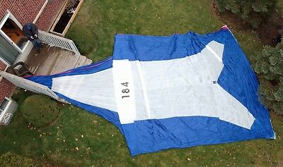 Quantum Symmetrical Spinnaker Sail. Luff: 44' Foot: 22', with storage bag