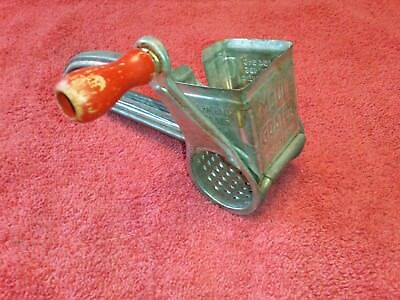 Vintage Mouli Grater, Made in France, Red wooden Handle, Cheese grater