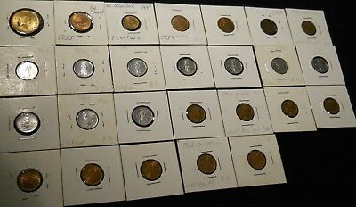 26 Foreign coins ~ Netherlands ~ Vatican ~ El Salvador ~  LOTS OF LOW MINTAGE !!