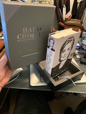 SIGNED Hillary Rodham Clinton Hard Choices 1ST Book Box Numbered Limited Rare HC