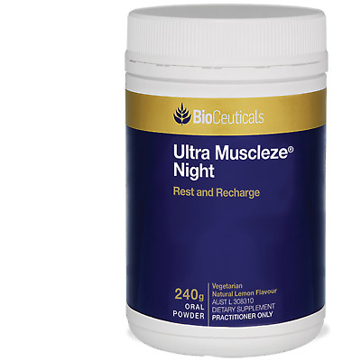 Bioceuticals Ultra Muscleze Night 240g + Free Postage & Handling