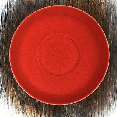 "Waechtersbach Red Saucer 6"" Plate Dish West Germany Vtg Christmas Replacement"