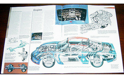 Alpine A110 1600S Poster + Cutaway drawing