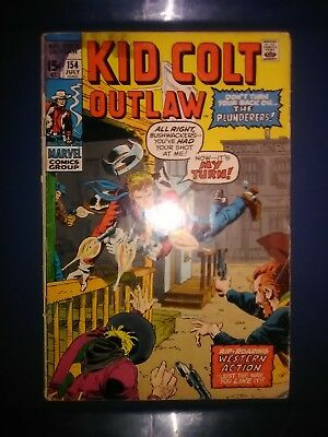MARVEL COMIC BOOK KID COLT OUTLAW #154 July 1971 THE PLUNDERERS APPEARANCE!