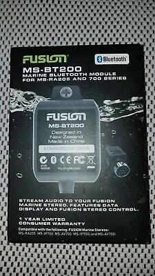 Fusion MS-BT200 700 Series MS-RA205 Marine Stereo Control Bluetooth Dongle