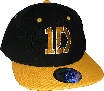 One D Snap Back Hiphop Cap Rapper Hat Flat Visor  -  5 Colours available