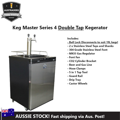Kegerator King Double Beer Font Taps  HomeBrewing Keg Fridge Series 4 Beer Line