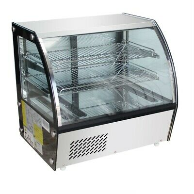 Commercial Chilled Cool Counter Bench Top Food Cake Display Fridge 100 120 160 L