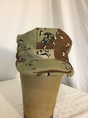 Usmc 8 Point Cover Desert Storm Shield Hat Cap Marine Corps Chocolate Chip Camo