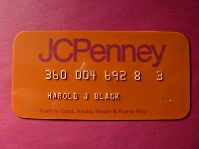 Vintage Expired JC PENNEY Dept Store CREDIT CHARGE CARD Late 1970s Unsigned MINT