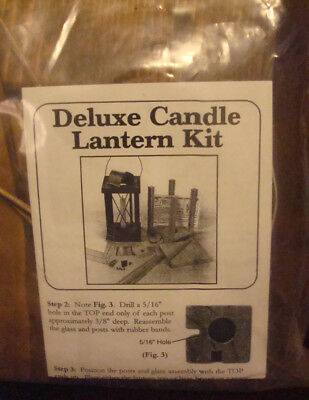Mountain Man Rendezvous Wooden Deluxe Candle Lantern Kit to Build