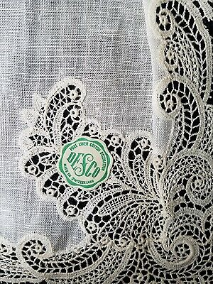 A12 Vintage Chemical Lace Linen Hanky Hankies Wedding Bridal Floral Baptisimal