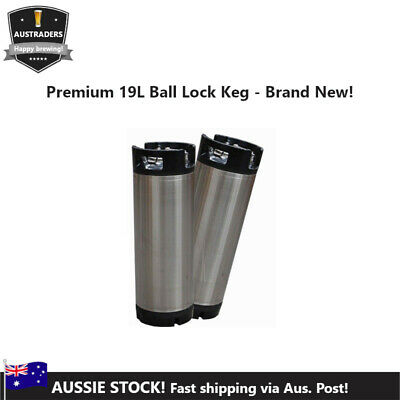 19L (5 gallon) Homebrew Brand New Premium Stainless Steel Ball Lock Keg