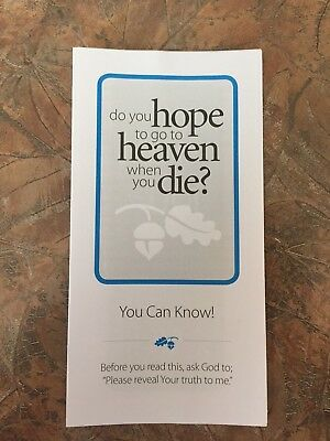 100 HEAVEN GOSPEL Tracts At Cost Free Shipping! God - $10 50 | PicClick