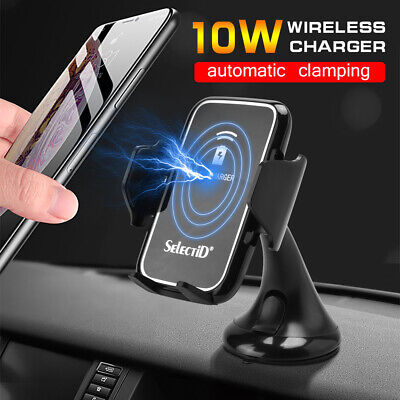 10W QI Car Wireless Magnetic Smartphone Fast Charger Holder Stand For iPhone XS
