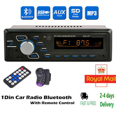 1 DIN Car Radio Stereo USB/SD  Head Unit In-dash Bluetooth Audio MP3 Player