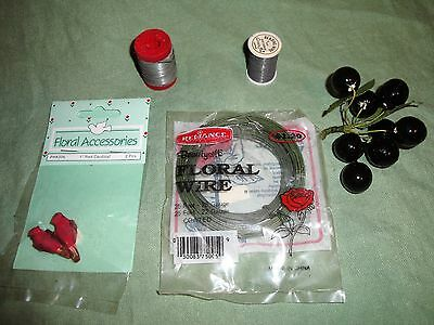 (2411) Floral arranging supplies ~ wire and more