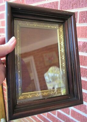 Antique Small EASTLAKE Walnut SHADOWBOX Miniature FRAME 4 3/4 x 7 in. fit 1900s