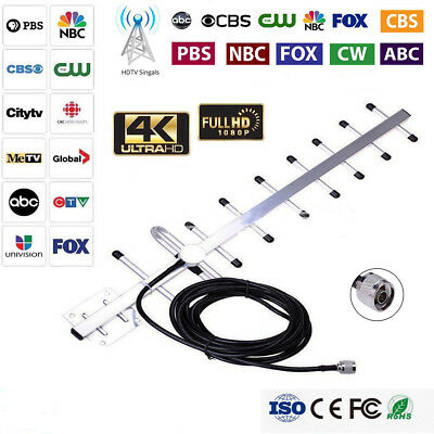 1080P 180Miles Outdoor Long Range Antenna HD TV Amplified 360 Rotation Digital