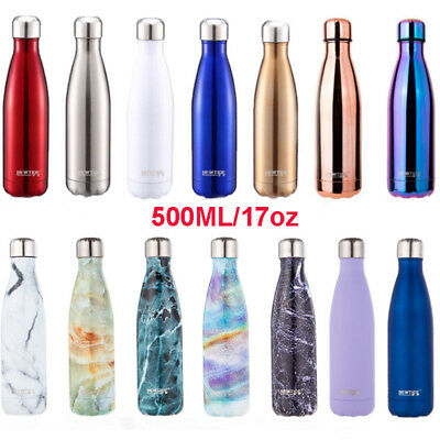 Stainless Steel Vacuum Insulated Water Bottle Double Wall Thermos Hot/Cold 500ML