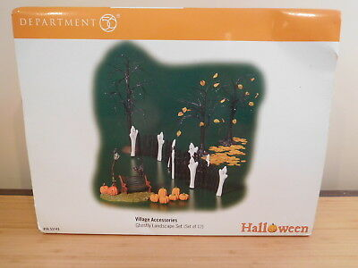 Dept 56 SV Halloween - Ghostly Landscape Set - Set of 12 - NIB