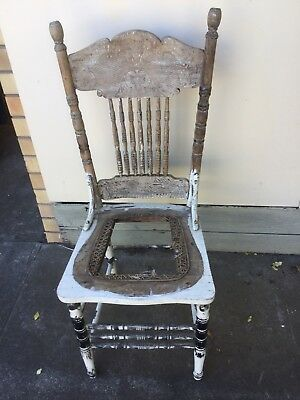 Antique Timber Early Australian Colonial Chair For Restoring