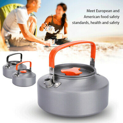 Portable 1.1L Stainless Steel Camping Hiking Kitchen Teapot Coffee Pot Kettle