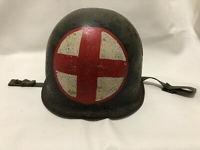 WWII Military WW2 Authentic U.S. M-1 Medic Helmet