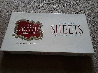 "VINTAGE BED SHEETS  - Actil - BRAND NEW BOXED NEVER USED - 63"" X 100"""
