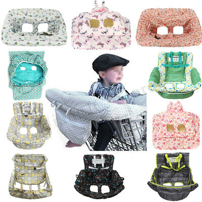 AU Foldable Baby Shopping Trolley Cart Seat Cushion High Chair Cover