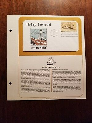 First Day of Issue - History Preserved, Charles Morgan - Postmarked: 10/29/1971