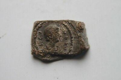 ANCIENT ROMAN/BYZANTINE LEAD DOCUMENT SEAL 5/6th Century AD Document Seal