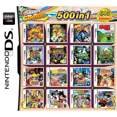 500 In 1 Video Game Card Cartridge Console For Nintendo NDS NDSL 2DS 3DS NDSI