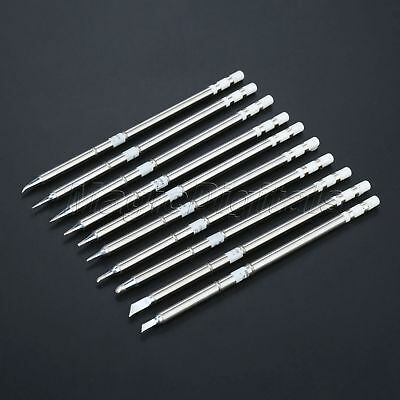 10pcs Solder Iron Tips Welding Tool Replacement for Hakko Soldering T12 Series