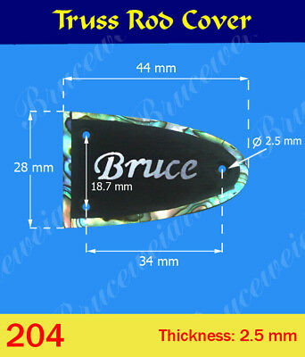 Free Shipping, Ebony Truss Rod Cover - Inlay Your Name On Cover (G-204-5)