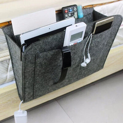New Remote Control Hang Caddy Bedside Couch Storage Organizer Bed Holder Pockets